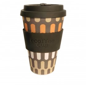 Ecoffee Cup 400ml Girona With Brown Silicone