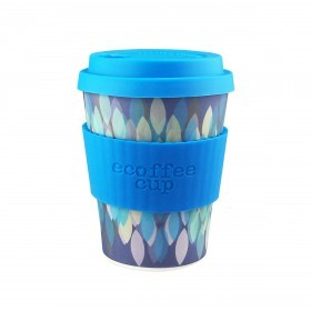 Ecoffee Cup 340ml Sakura Blue With Blue Silicone