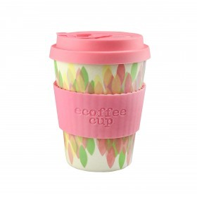 Ecoffee Cup 340ml Sakura Pink With Light Pink Silicone