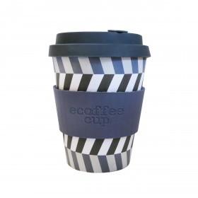 Ecoffee Cup 340ml Look Into My Eyes With Grey Silicone