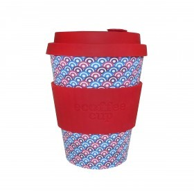 Ecoffee Cup 340ml Diggi Palace With Red Silicone