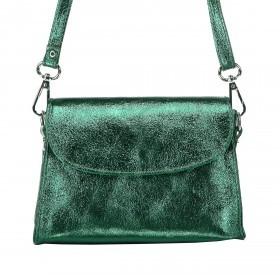 Hausfelder Schultertasche Athena 5173-558 Verde Scuro Metallic