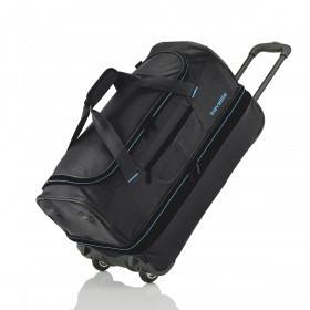 Travelite Basics Trolley Reisetasche M  Schwarz Blau