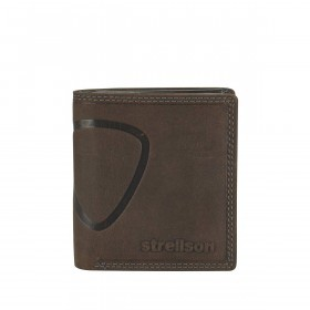 Strellson Baker Street Billfold Q7 Quadratische Herrenbörse Leder Dunkelbraun