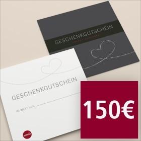 Gutschein per Post 150 €