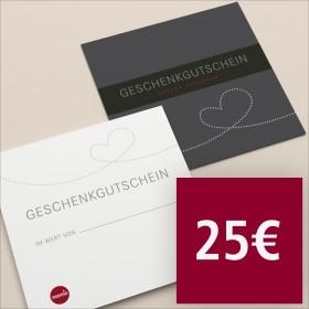 Gutschein per Post 25 €