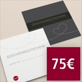 Gutschein per Post 75 €