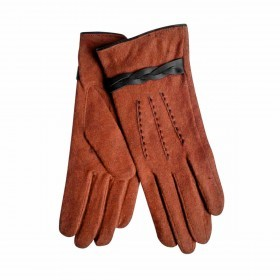 UNMADE Twisted Detail Glove Wollhandschuh 7,5 Rost