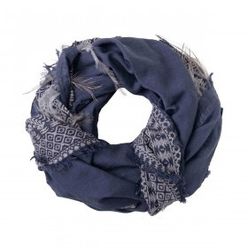 UNMADE Feather Weave Scarf Blau