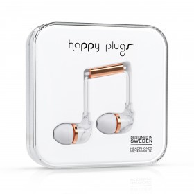 Happy Plugs Kopfhörer In-Ear Unik Edition White Carrara Marble
