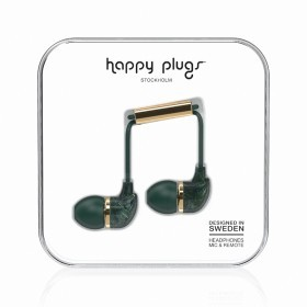 Happy Plugs Kopfhörer In-Ear Unik Edition Jade Green Marble