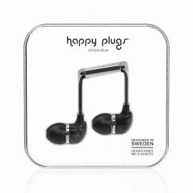 Happy Plugs Kopfhörer In-Ear Unik Edition Black Saint Laurent Marble