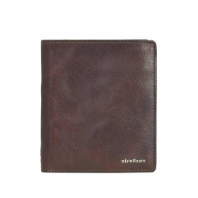 Strellson Jefferson BillFold Q6 Geldbörse Leder Dark-Brown