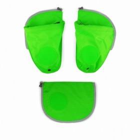 Ergobag Pack Seitentaschen Zip-Set Grün