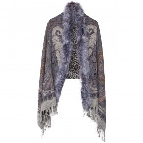RINO & PELLE Cape ScarfPrint Anthra