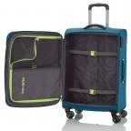 Travelite Meteor 4-Rad Trolley 55cm Petrol, Farbe: blau/petrol, Marke: Travelite, Abmessungen in cm: 38.0x55.0x20.0, Bild 4 von 4