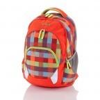 Travelite Basic Rucksack Karo Rot, Marke: Travelite, Abmessungen in cm: 30.0x45.0x16.0, Bild 1 von 4