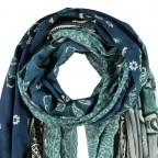 Passigatti Schal Pailletten-Streifen Smaragd, Farbe: grün/oliv, Marke: Passigatti, EAN: 4046124009167, Abmessungen in cm: 100.0x200.0, Bild 2 von 2