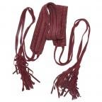 Passigatti Ledergürtel Fransen Bordeaux, Farbe: rot/weinrot, Marke: Passigatti, EAN: 4046124012181, Bild 2 von 2