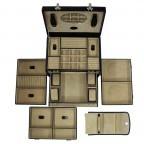 Windrose Merino Schmuck-/ Uhrenkoffer mit Schmucktasche Schwarz, Farbe: schwarz, Marke: Windrose, Abmessungen in cm: 33.0x23.0x23.0, Bild 3 von 3