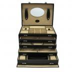 Windrose Merino Schmuck-/ Uhrenkoffer mit Schmucktasche Schwarz, Farbe: schwarz, Marke: Windrose, Abmessungen in cm: 33.0x23.0x23.0, Bild 1 von 3