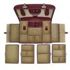 Windrose Merino Schmuckkoffer Seitenladen Rot, Farbe: rot/weinrot, Marke: Windrose, Abmessungen in cm: 29.5x17.0x19.0, Bild 4 von 4