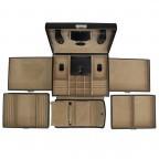Windrose Merino Schmuckkoffer mit integrierter Schmucktasche Schwarz, Farbe: schwarz, Manufacturer: Windrose, Dimensions (cm): 26.0x22.0x20.5, Image 3 of 3