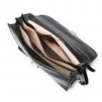 Assima 3-Fächer Aktentasche Vacchettaleder Schwarz, Farbe: schwarz, Marke: Assima, Abmessungen in cm: 42.0x29.0x16.0, Bild 4 von 5