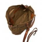 Campomaggi Vintage-Canvas 33cm C1389-TVVLTC-1702 Cognac / Druck Schwarz, Farbe: cognac, Marke: Campomaggi, Abmessungen in cm: 30.0x33.0x14.0, Bild 3 von 4