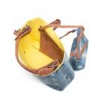 Fritzi aus Preußen Freja Snake Beutel Azul, Farbe: blau/petrol, cognac, gelb, weiß, Marke: Fritzi aus Preußen, Abmessungen in cm: 35.0x26.5x16.0, Bild 4 von 5