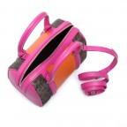 Cavalli Signature Bowlingbag S Leder Orange Fuchsia, Farbe: braun, rosa/pink, orange, Marke: Cavalli, Abmessungen in cm: 22.0x17.0x13.0, Bild 3 von 4