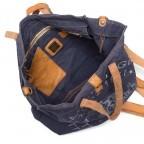 Campomaggi Canvas 33cm C1389-TEVL-2513 Blau / Druck Grau III, Farbe: blau/petrol, Manufacturer: Campomaggi, Dimensions (cm): 30.0x33.0x14.0, Image 3 of 4