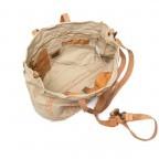Campomaggi Canvas 33cm C1389-TEVL-3433 Beige / Druck Orange, Farbe: orange, beige, Marke: Campomaggi, Abmessungen in cm: 30.0x33.0x14.0, Bild 3 von 4