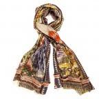Anokhi Riko Schal mit Bordüre Multi, Farbe: bunt, Marke: Anokhi, Abmessungen in cm: 180.0x100.0, Bild 1 von 2