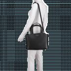 Marc Cain Handtasche HBTJ24L02-900 Black, Farbe: schwarz, Marke: Marc Cain, EAN: 4056255525160, Abmessungen in cm: 32.0x27.0x13.0, Bild 3 von 5