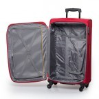 Travelite Flair 4-Rad Trolley 77cm Rot, Farbe: rot/weinrot, Manufacturer: Travelite, Dimensions (cm): 42.0x77.0x34.0, Image 4 of 6