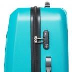 Travelite Robusto 4-Rad Trolley 66cm Türkis, Farbe: grün/oliv, Marke: Travelite, Abmessungen in cm: 45.0x66.0x27.0, Bild 4 von 5