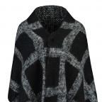 RINO & PELLE Cape Scarfinga Grey Black, Farbe: schwarz, grau, Marke: Rino & Pelle, Abmessungen in cm: 54.0x170.0, Bild 2 von 2