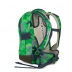 Satch Sleek Rucksack Green Camou, Farbe: grün/oliv, Manufacturer: Satch, EAN: 4057081012596, Dimensions (cm): 27.0x45.0x15.0, Image 3 of 4