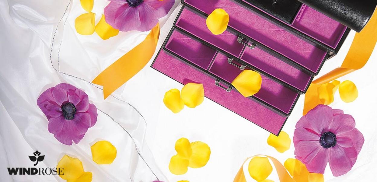Windrose - Schmuckkästchen Schwarz-Violett